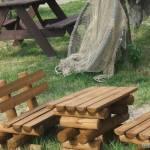 Podwórko, mini stół biesiadny